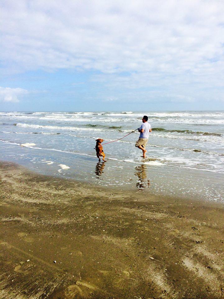 Galveston Charlie and Enrique run