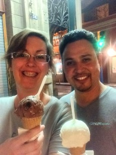 Enrique and Patty enjoy ice cream in San Luis Potosi USMexpats 1