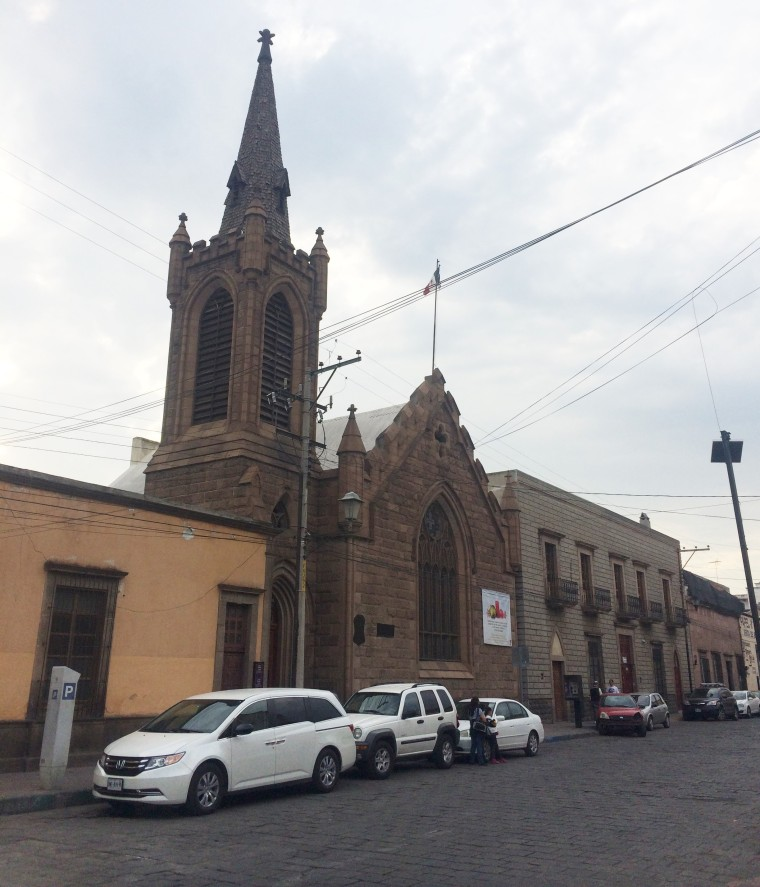 San Luis Potosi brick church USMexpats