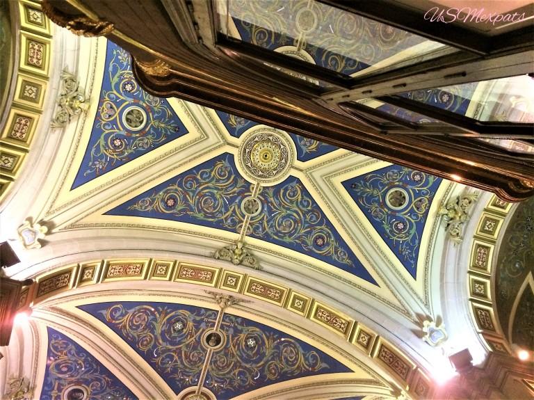 San Luis Potosi Catedral Metropolitana de San Luis Rey King San Luis Metropolitan Cathedral ceiling art USMexpats