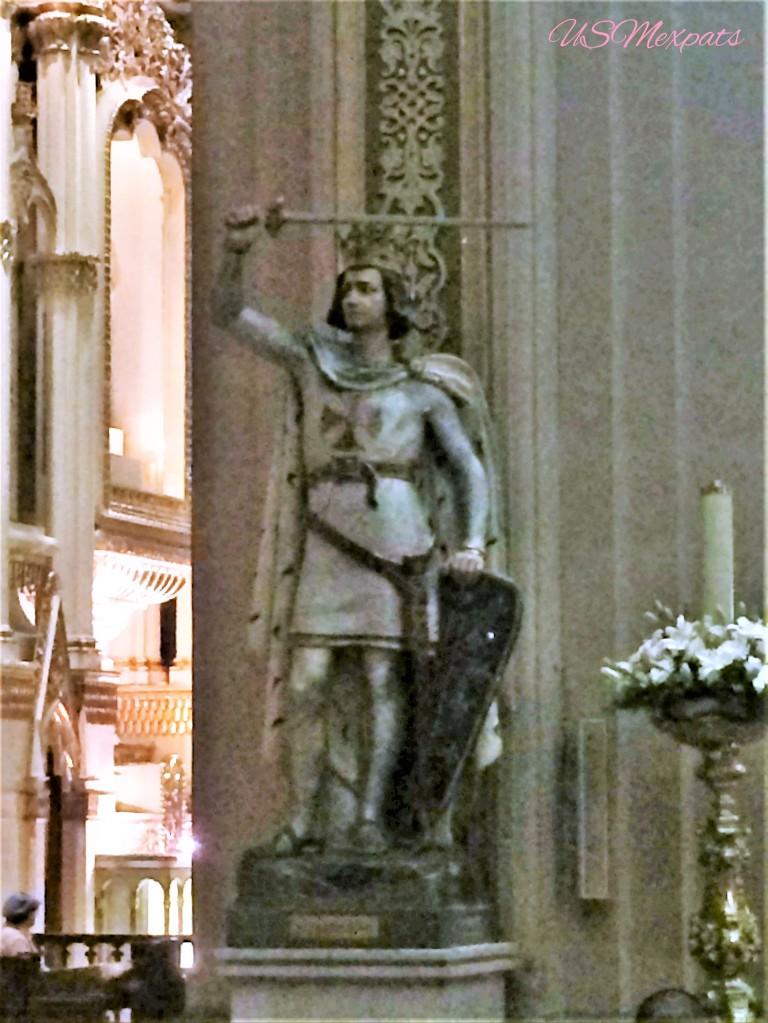 San Luis Potosi Catedral Metropolitana de San Luis Rey King San Luis Metropolitan Cathedral estature de King San Luis Statue USMexpats