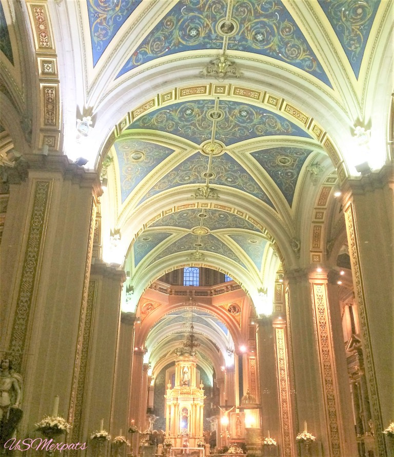 San Luis Potosi Catedral Metropolitana de San Luis Rey King San Luis Metropolitan Cathedral interior ceiling view USMexpats
