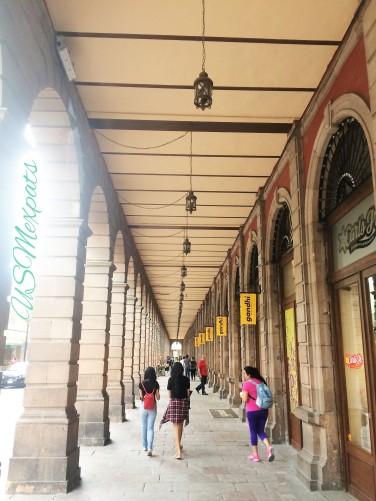 San Luis Potosi historical arches sidewalks USMexpats